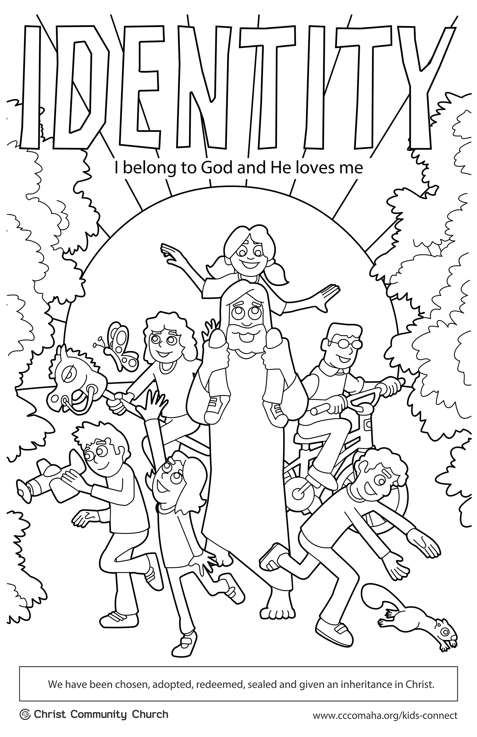 i created these coloring pages in 2013 for the kids connect team at christ community church these pages coincided with curriculum themes such as