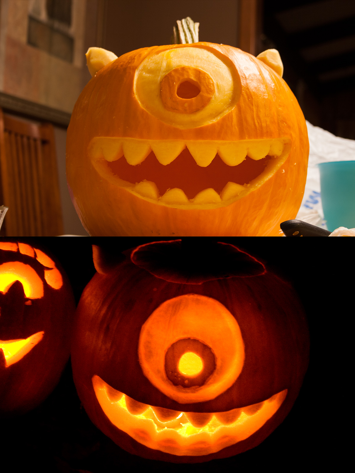 mike wazowski pumpkin template - greg nunamaker pumpkin carving